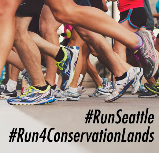 Legs running, #RunSeattle, #Run4ConservationLands