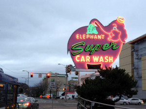 Elephant car wash sign